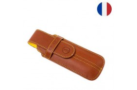 Etui Chic Cuir Marron Opinel