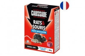 Raticide souricide - forte infestation - garage et cave