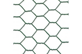 Grillage plastifié triple torsion - Mailles hexagonales