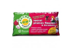 Terreau plantes fleuries et géraniums Bio 6 L - Secret Vert